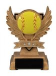 Victory Wing Resin Figure -Softball Scholastic Trophy Awards