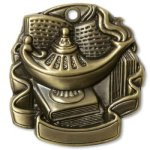 M2000 Series Medal Awards -Lamp of Knowledge Scholastic Trophy Awards