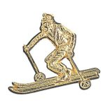 Skier Chenille Pin Skiing Trophy Awards